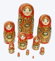 Muneca rusa roja