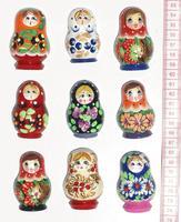 Imanes de muñecas rusas